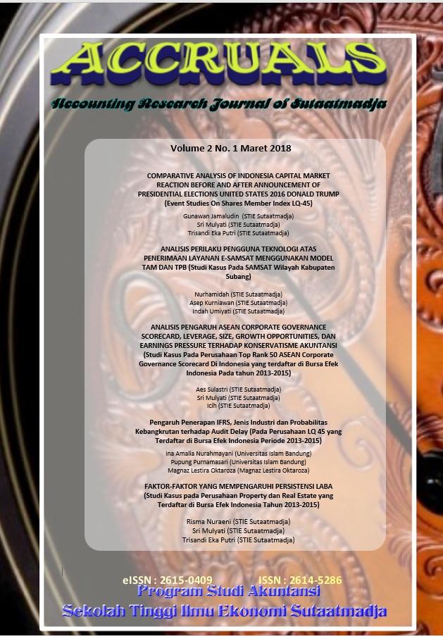Cover Accruals Edisi Maret Vol. 2 No. 1 2018